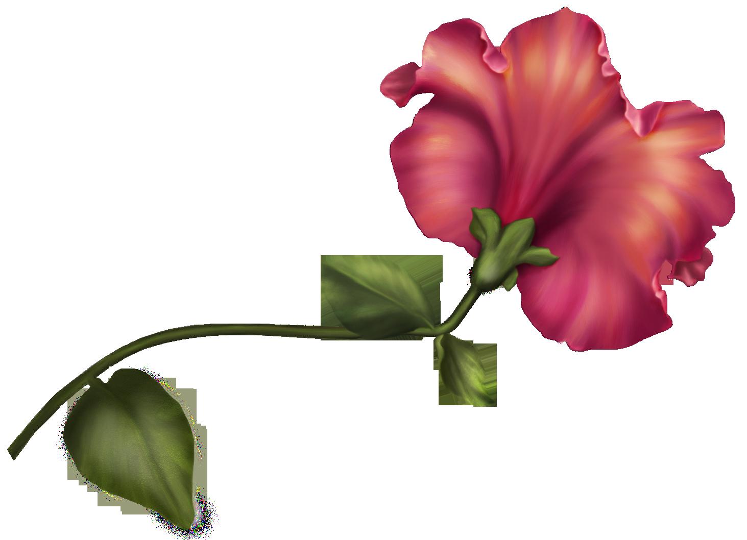 Vintage Flower PNG Clip Art.