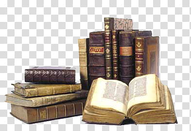 Old Books, vintage books transparent background PNG clipart.