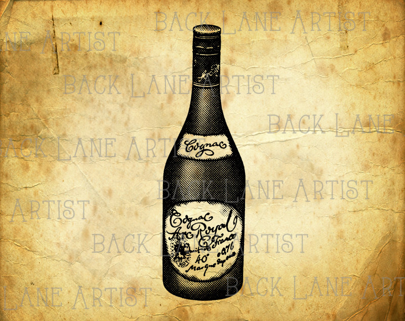 Vintage Wine Bottle Clipart.
