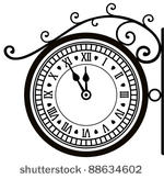 Vintage Clock Free Vector Art.
