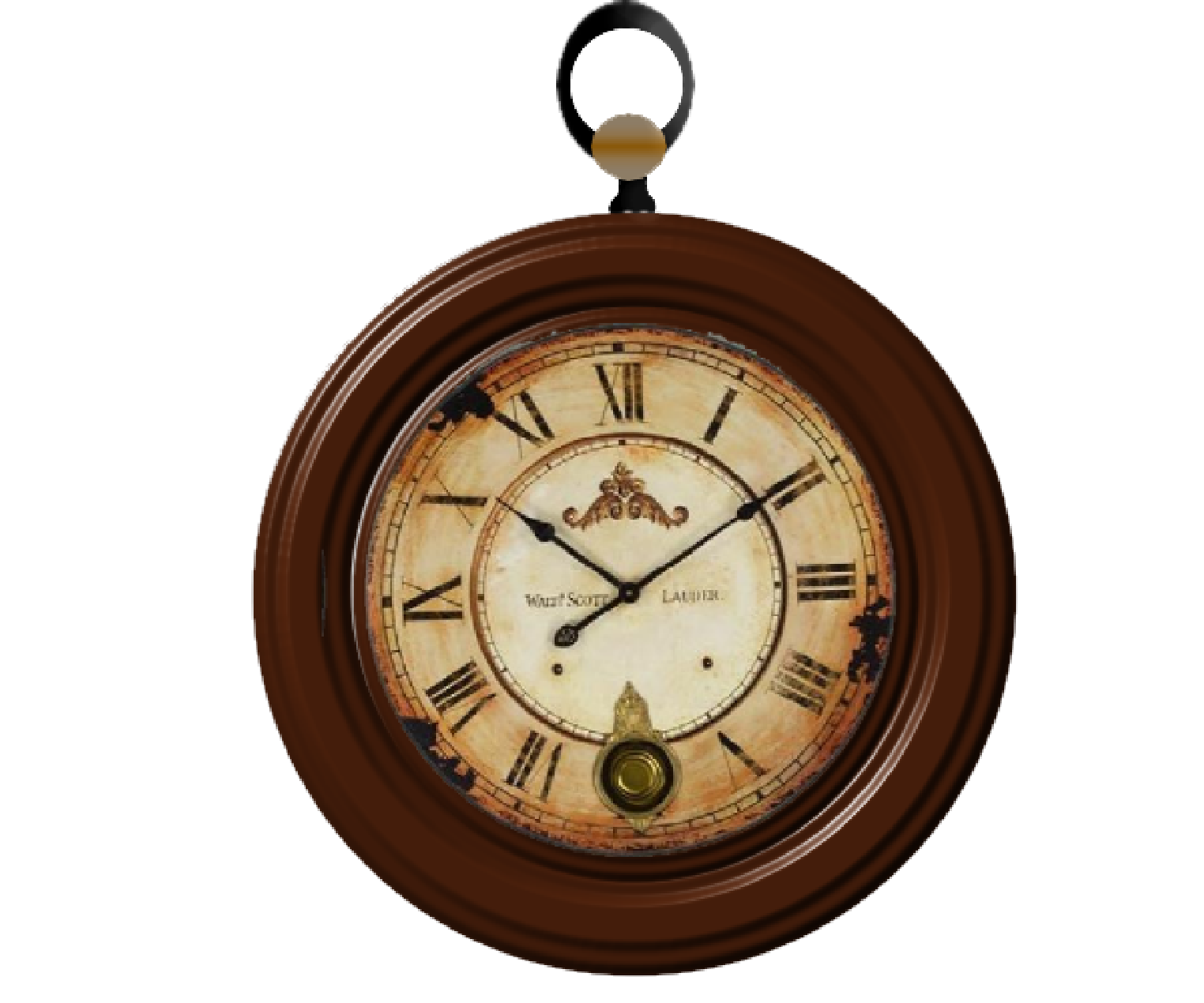 Download Vintage Clock PNG Image For Designing Projects.