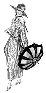 wartime fashion image, vintage lady clipart, old fashioned.