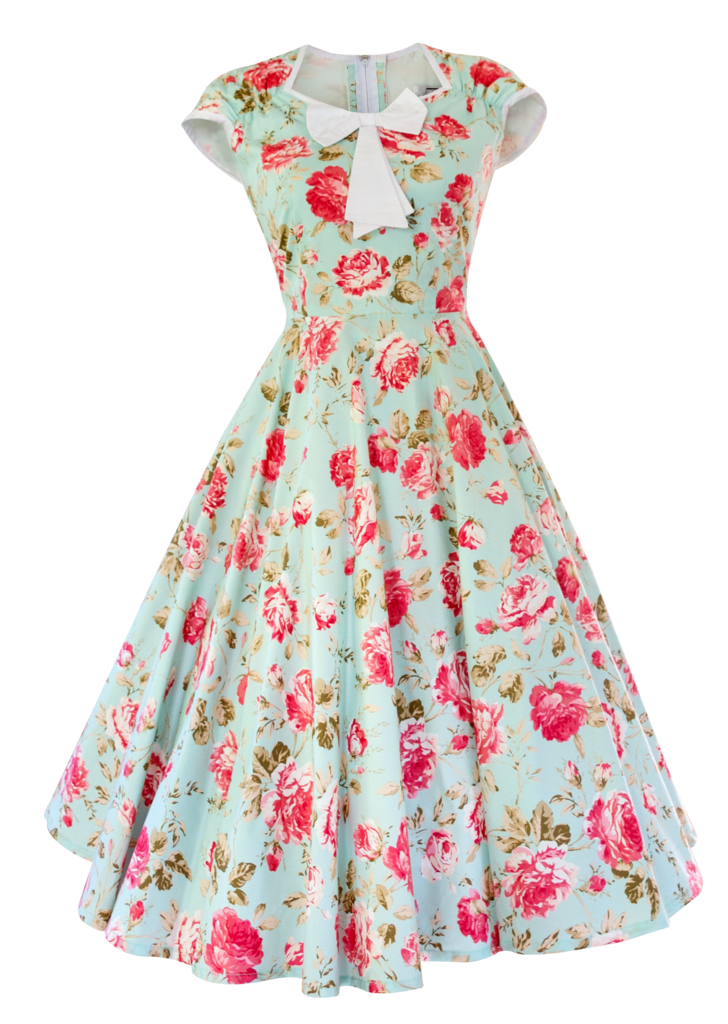 Vintage clothing Dress Retro style 1950s.