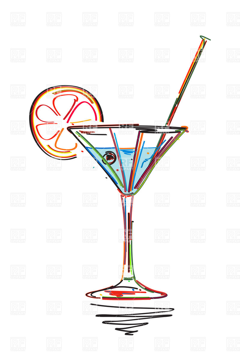 Holiday Cocktail Party Clipart.