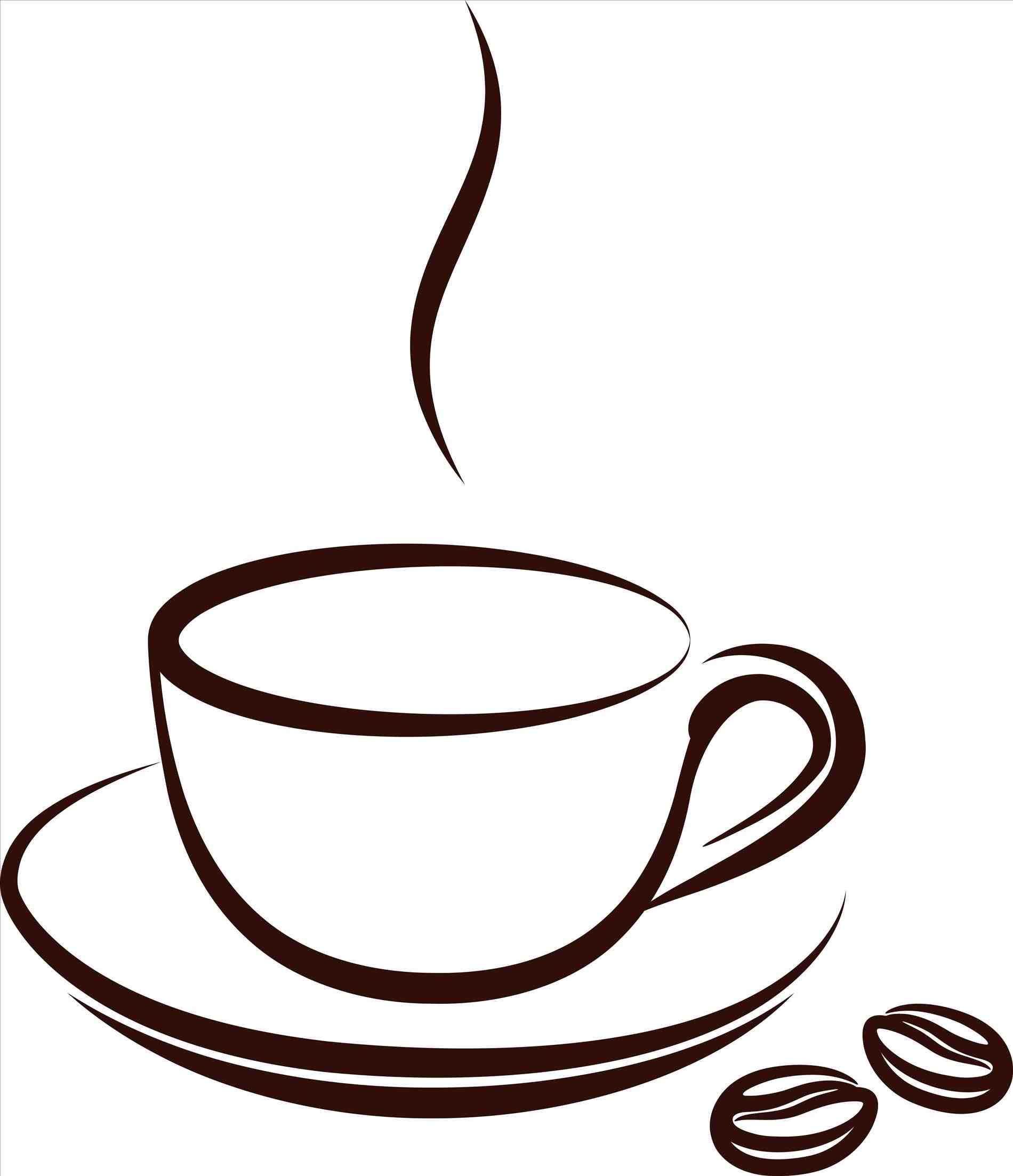 vintage coffee cup clip art.