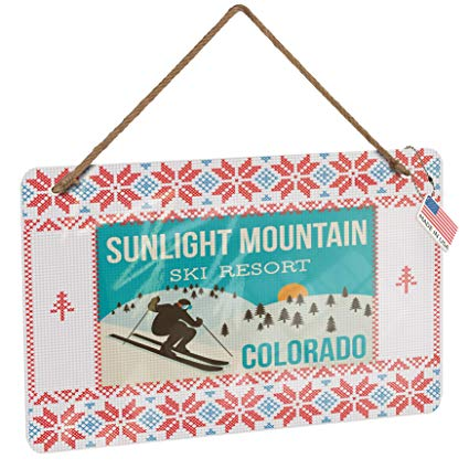 Amazon.com: NEONBLOND Metal Sign Sunlight Mountain Ski.