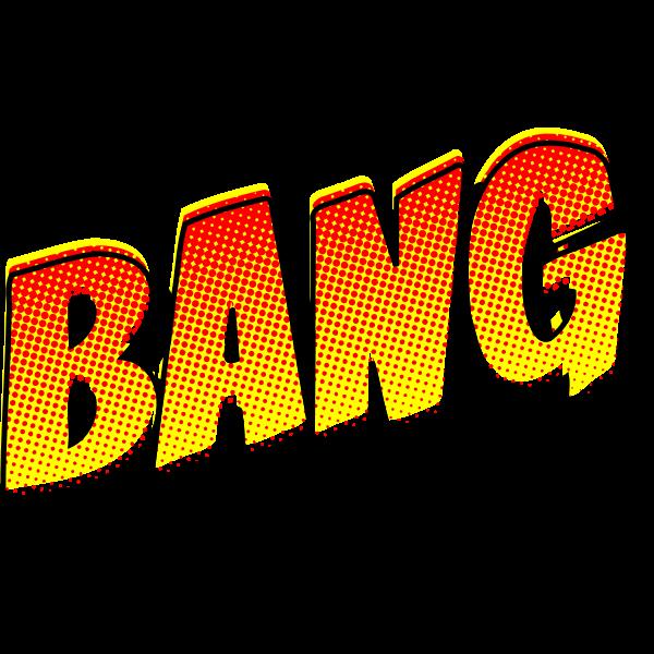 BANG vintage comic book sign vector drawing.