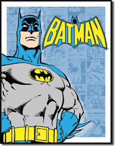 Details about Batman Retro Panels Vintage Comic Book DC Panels Super Hero  Metal Sign.