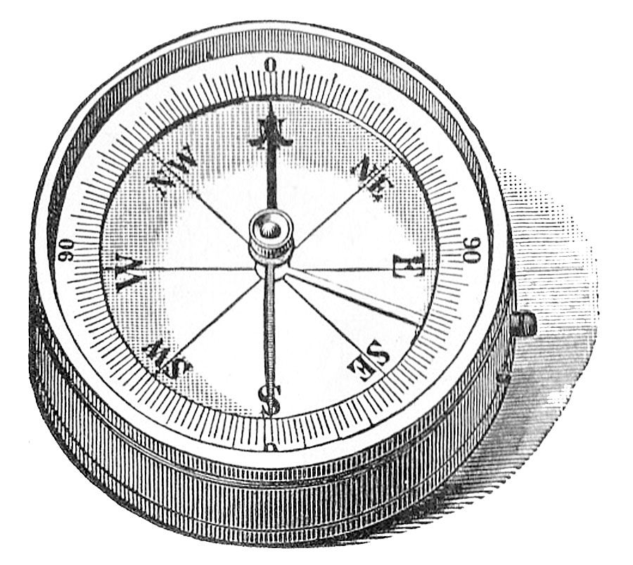 line drawing compass.