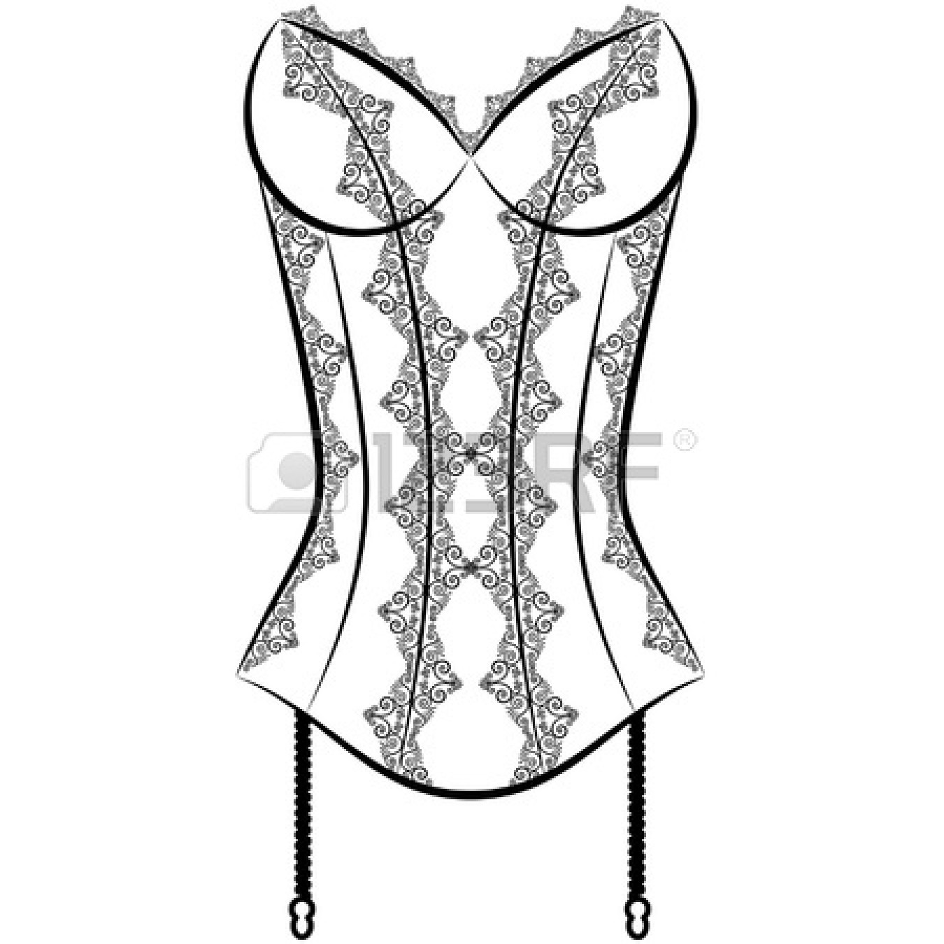 lingerie : Vintage corset with.