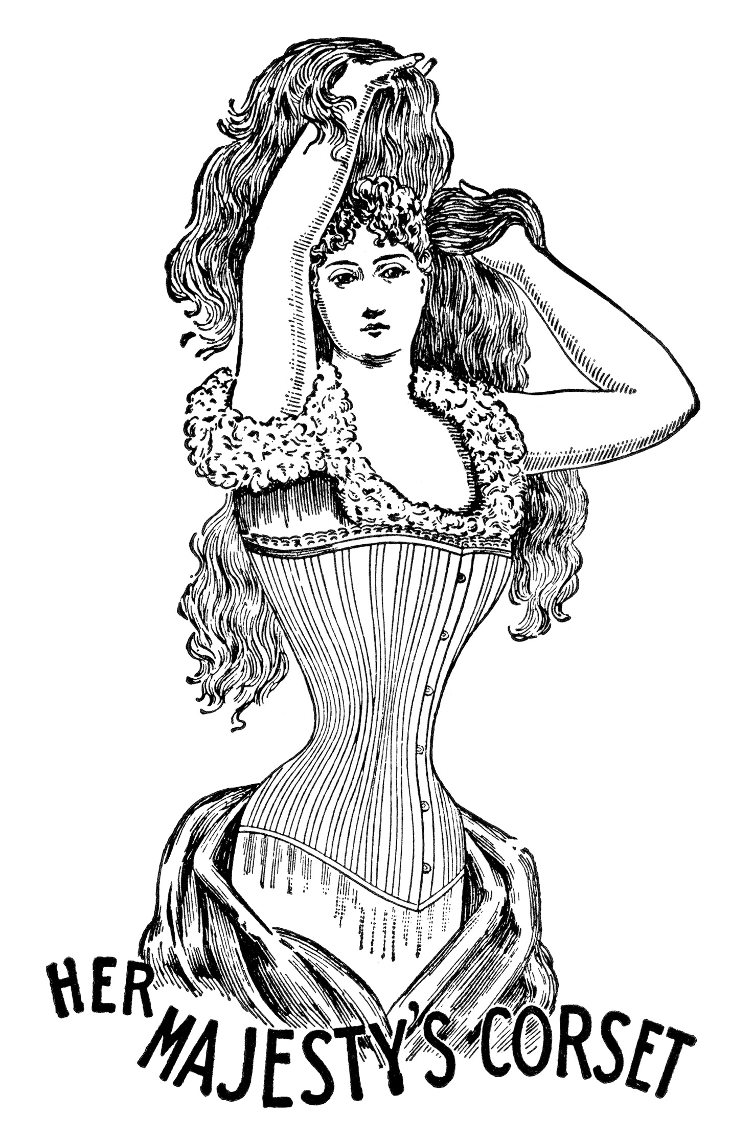 Her Majesty\'s Corset Free Clip Art.