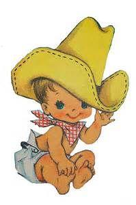 baby cowboy Cartoon Clip Art.