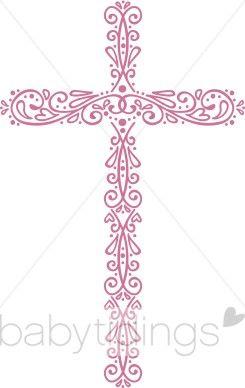 Ornate Cross Clip Art.