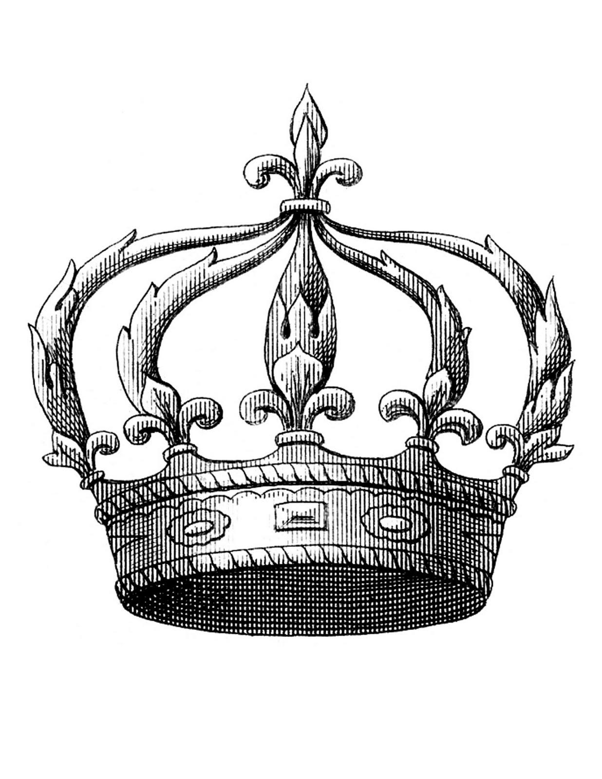 Vintage Crown Clipart.