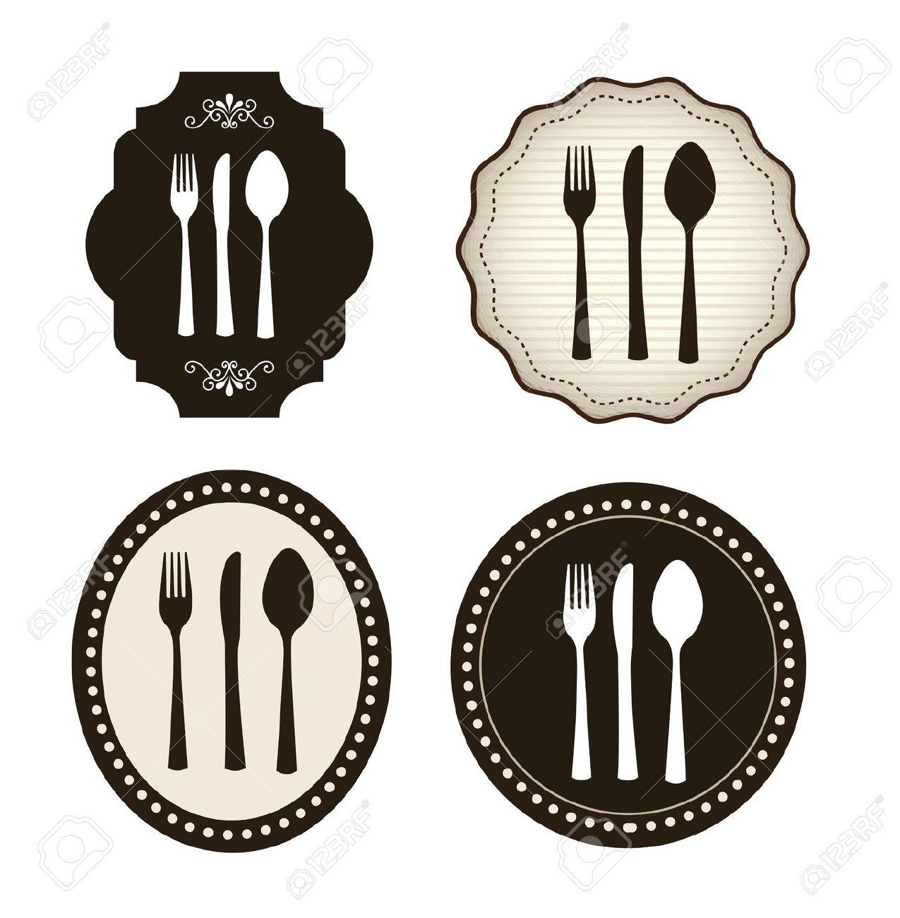 Images: Vintage Cutlery Clip Art.