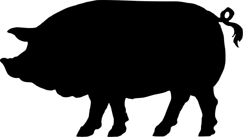 vintage pig clip art.
