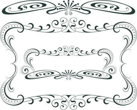 Vintage decorative border elements free vector download.