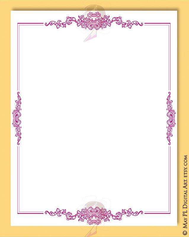 Pink Invitation Border Clipart.