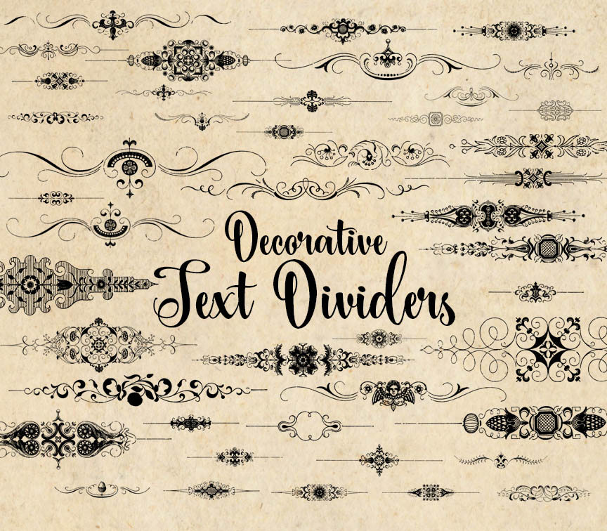 Decorative Text Dividers Clipart.