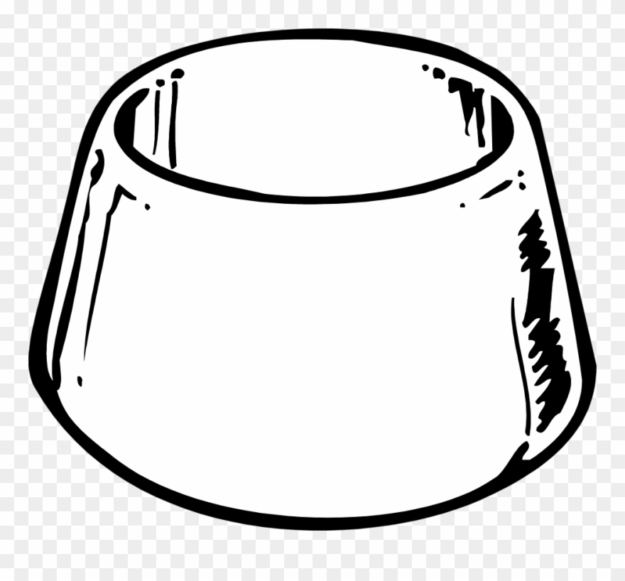 Dog Bowl Black And White Clipart Graphic Royalty Free.