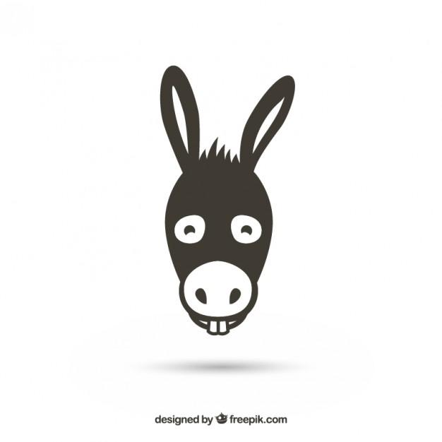 Donkey Head Free Vector.