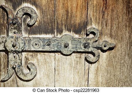 Stock Image of Vintage Door Hinges.