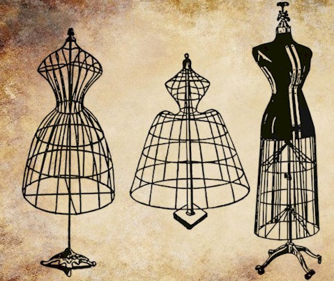 steampunk metal dress form.