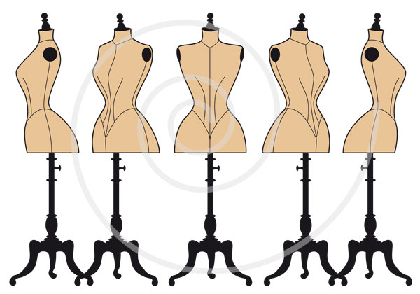 Dress form clipart.