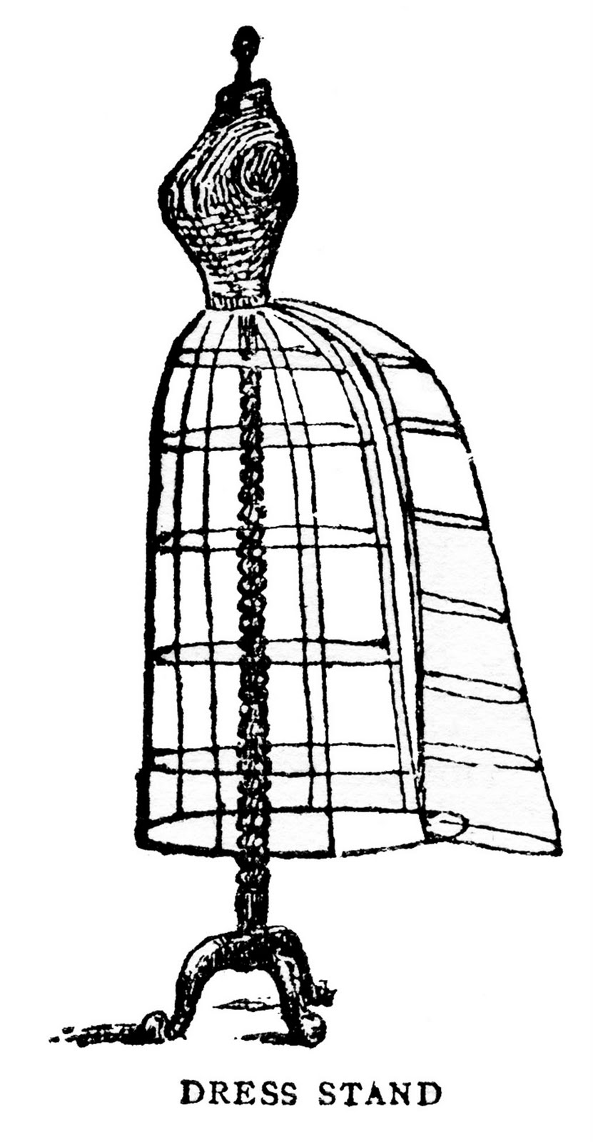 Wire Dress Form Clipart.