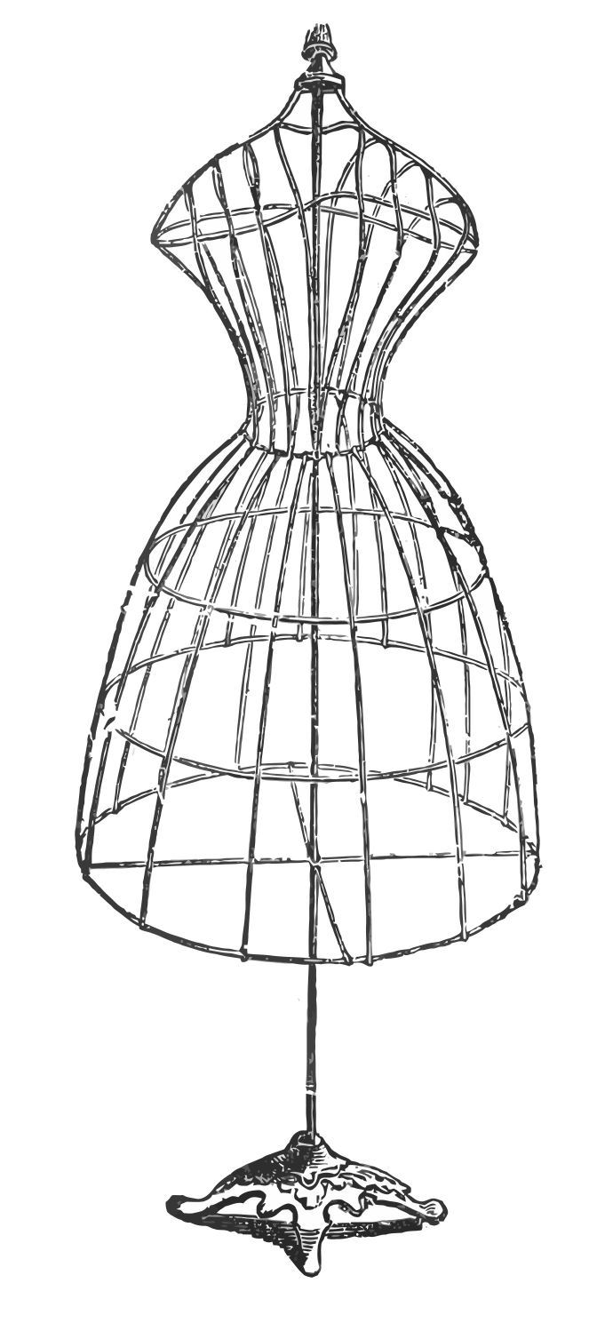 Dress Stand Clipart Silhouette.