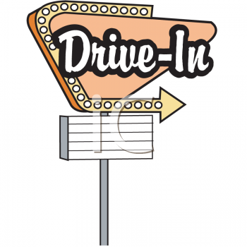 free drive in movie clip art.