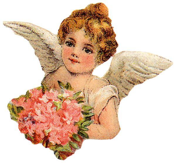 Vintage Easter Angel Clipart.