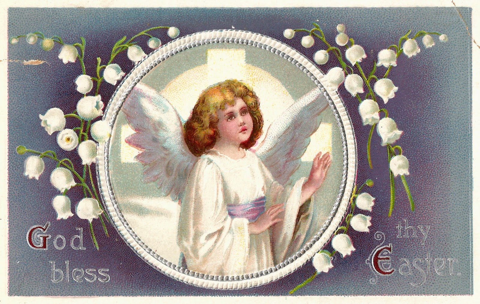 Antique Easter Angel Clipart.