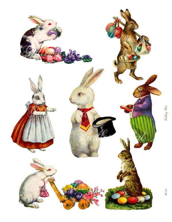 Download vintage easter bunny clipart Easter Bunny Rabbit.