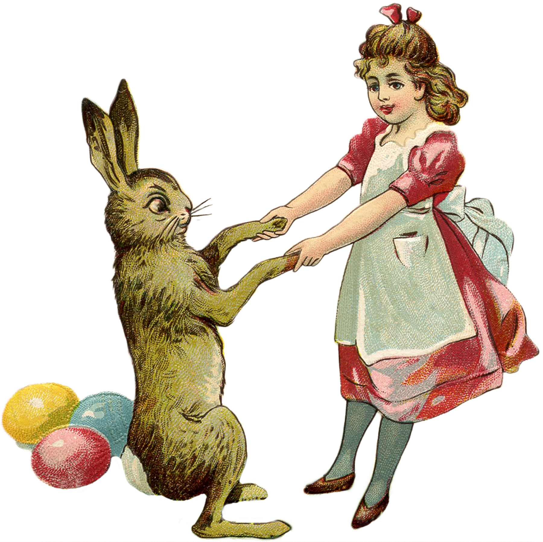 Free Vintage Easter Bunny Images.