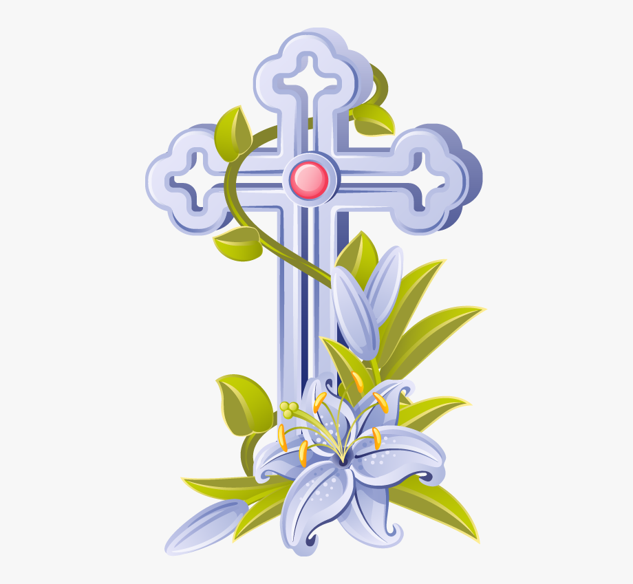 Easter Crosses Clip Art.