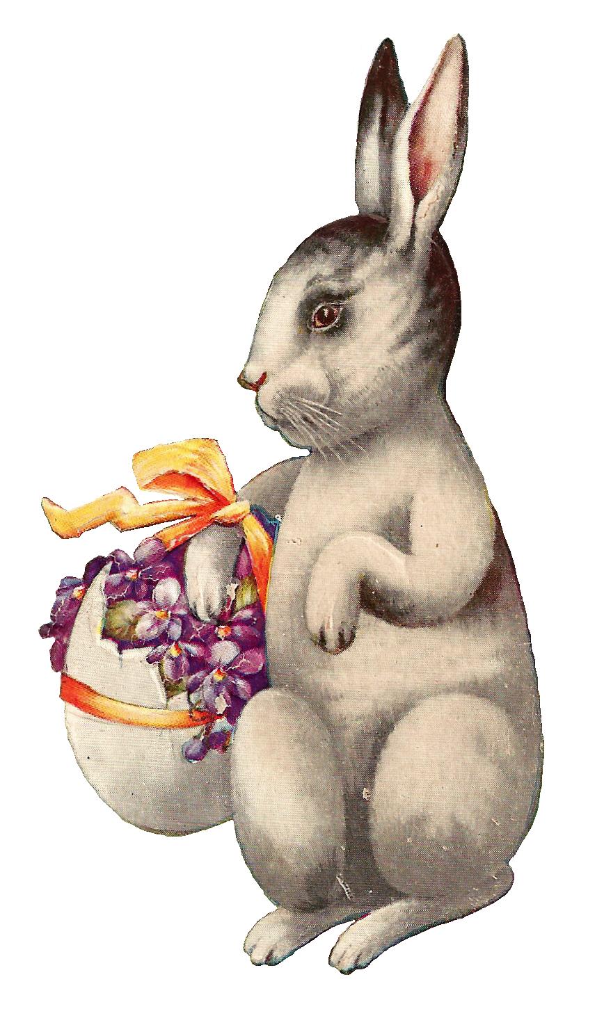 Antique Images: Free Easter Clip Art: Vintage Easter Bunny.