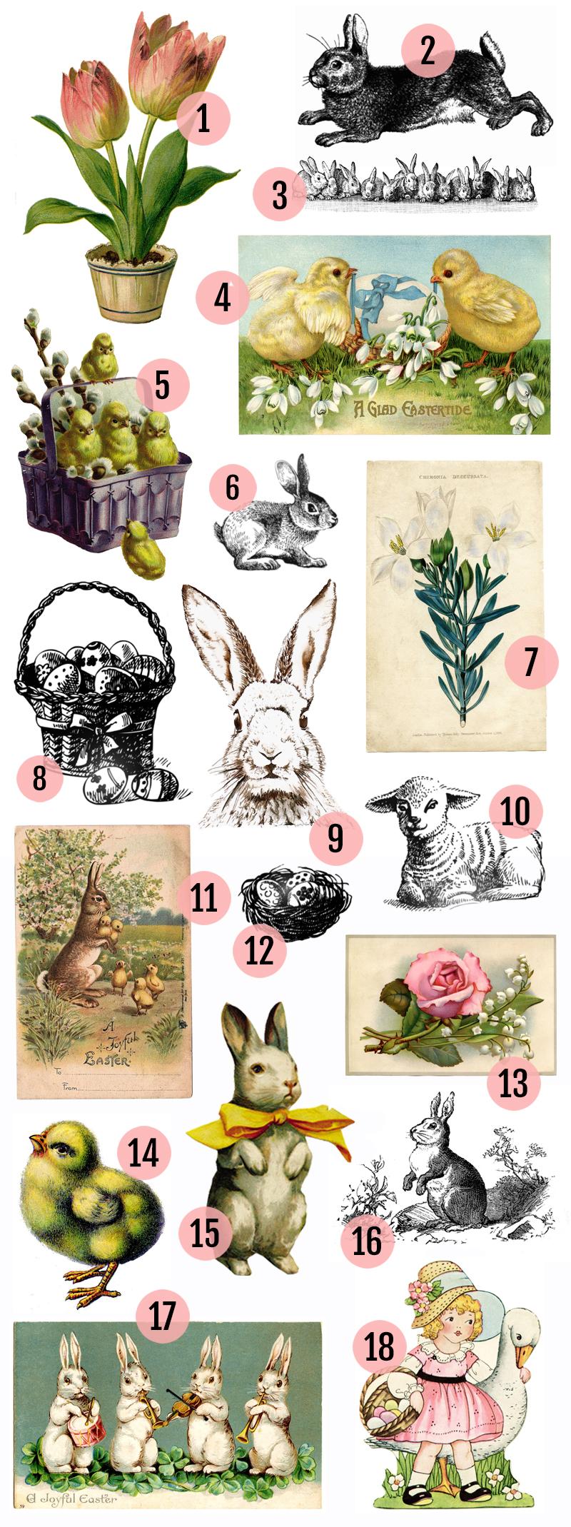 Free Vintage Easter Clipart Images » Maggie Holmes Design.