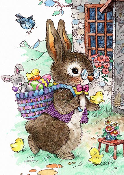 Toland Home Garden 1012287 Vintage Easter Bunny 28 x 40 Inch Decorative,  House Flag (28\