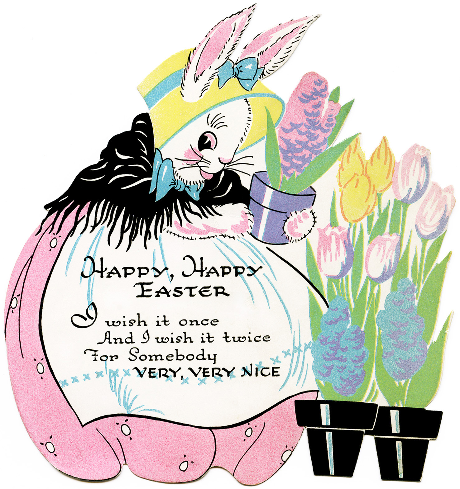 Free Vintage Image ~ Easter Bunny Clipart.