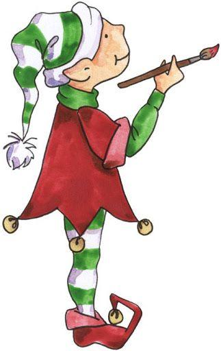 Artsy Elf #clipart #holiday #holidayclipart #christmas.