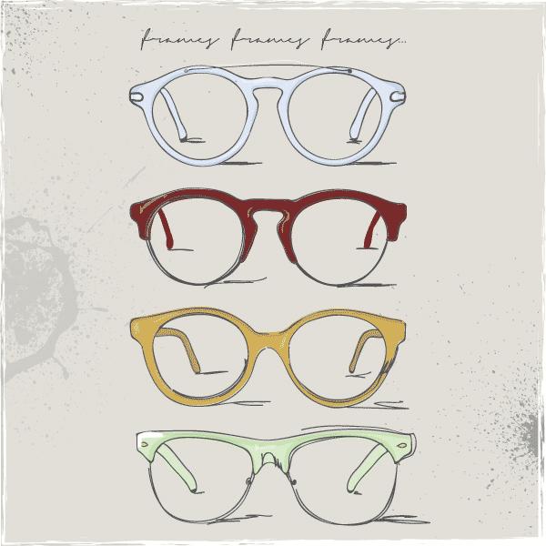 retro glasses, eye glasses clipart, free clipart, art clip.