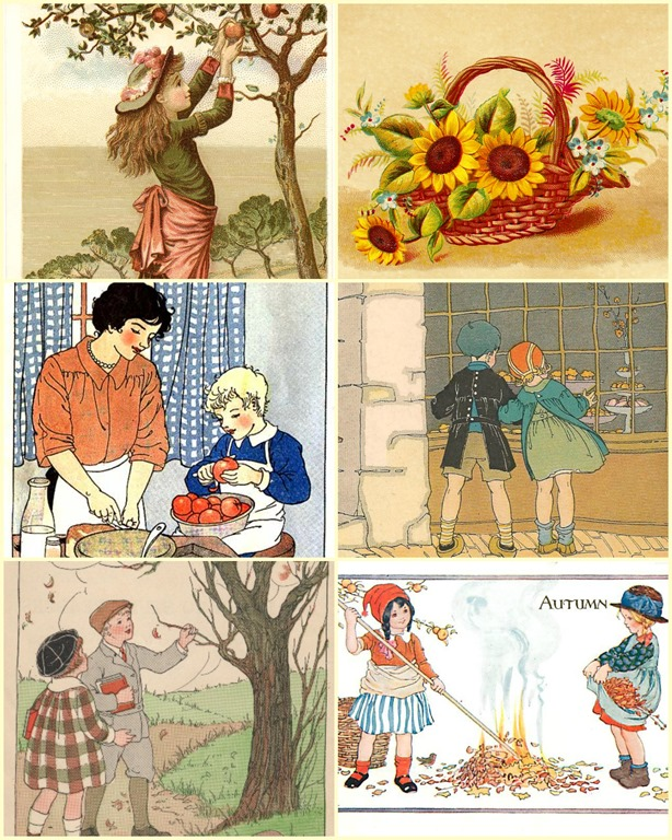 Beautiful Fun Vintage Fall Clip Art to Use for Your DIY Projects.