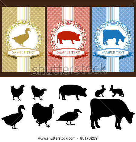 Vintage Farm Animals Stock Images, Royalty.