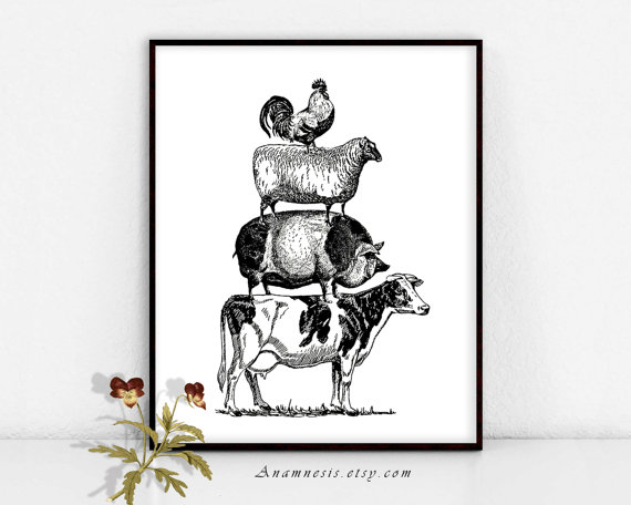 FARM ANIMAL PYRAMID.