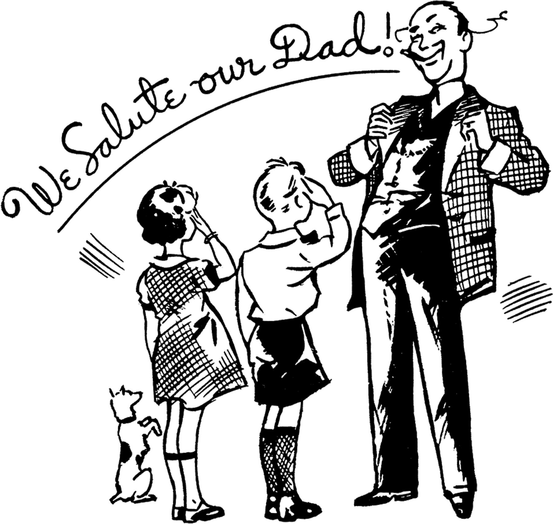 12+ Retro Father\'s Day Clipart!.