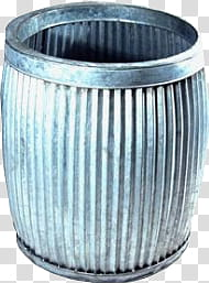 Vintage pk , gray steel bucket transparent background PNG.