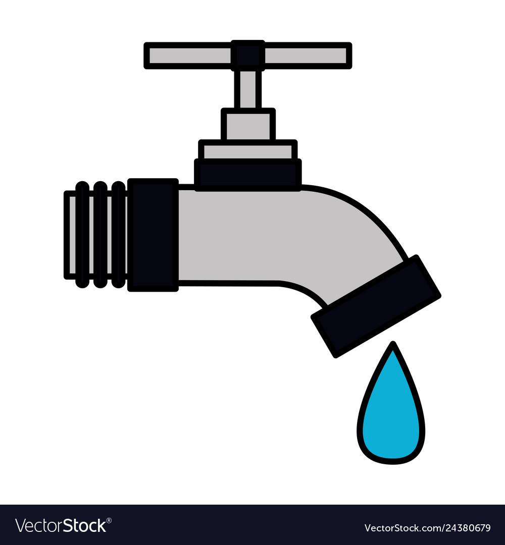 Faucet drop water.
