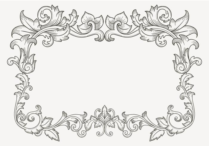 Floral Vintage Filigree Border.