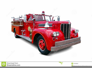 Vintage Fire Truck Clipart.